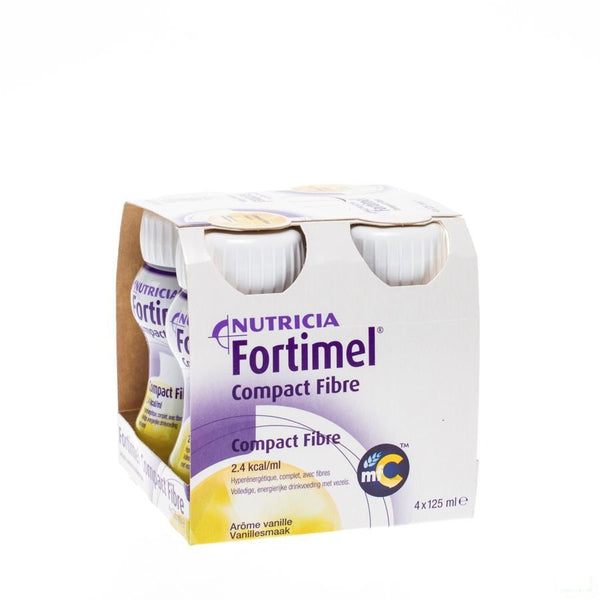 Fortimel Compact Fibre Vanille 4x125ml - Nutricia - InstaCosmetic