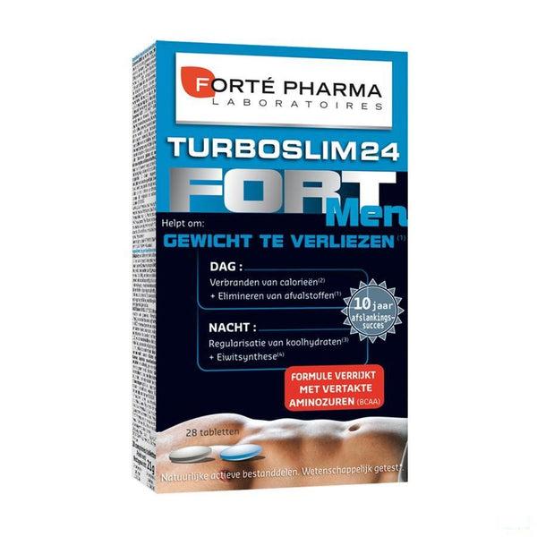 Turboslim 24 Fort Men Tabletten 1x28 - Forte Pharma - InstaCosmetic