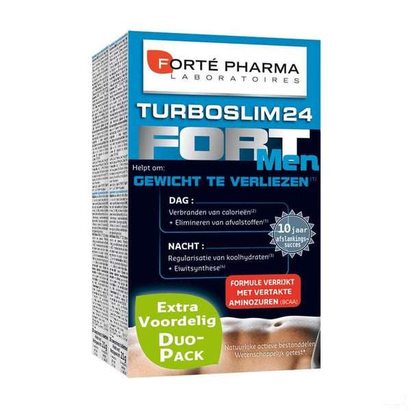 Turboslim 24 Fort Men Tabletten 2x28 - Forte Pharma - InstaCosmetic