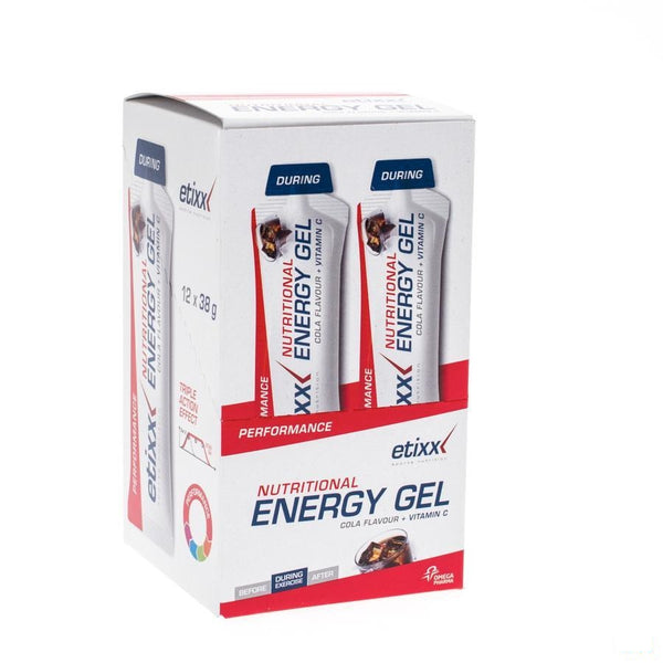 Etixx Nutritional Energy Gel Cola 12x38g - Axone Pharma - InstaCosmetic