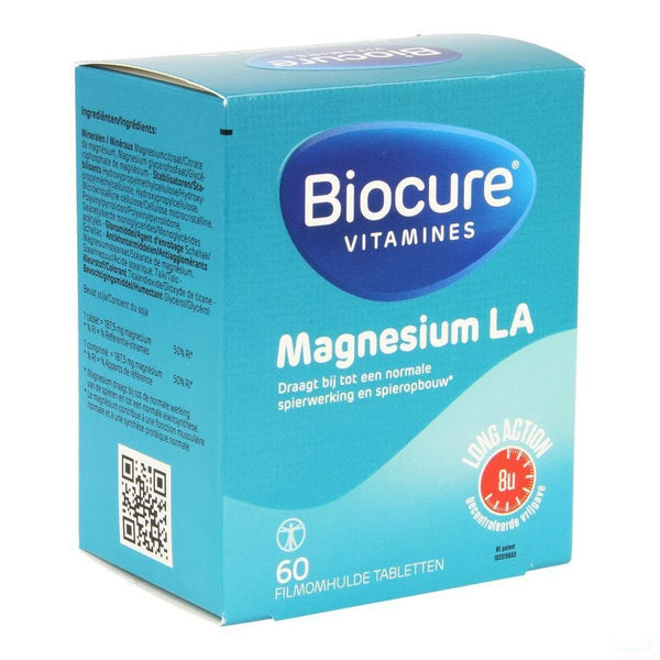 Biocure Magnesium Long Action Filmomh.tabl 60 - Qualiphar - InstaCosmetic