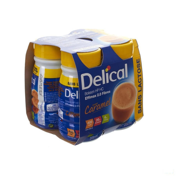 Delical Effimax 2.0 Caramel 4x200ml - Bs Nutrition - InstaCosmetic
