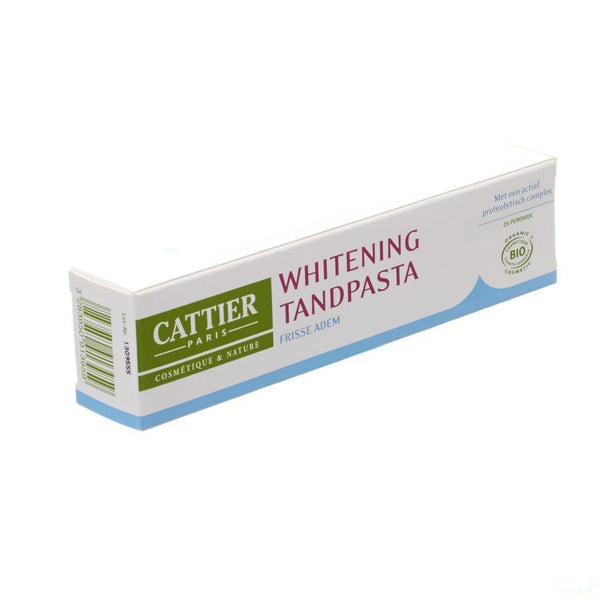 Cattier Tandpasta Whitening Frisse Adem 75ml - 2pharma - InstaCosmetic