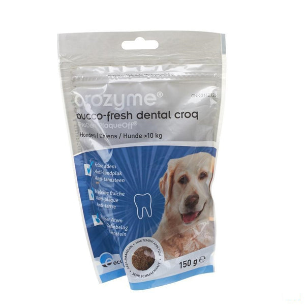 Orozyme Bucco-fresh Dental Croq Dog >10kg 150g - Ecuphar Nv/sa - InstaCosmetic