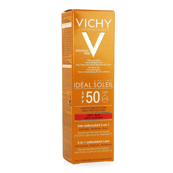 Vichy Ideal Soleil Anti-Age Ip50 50ml - Vichy - InstaCosmetic