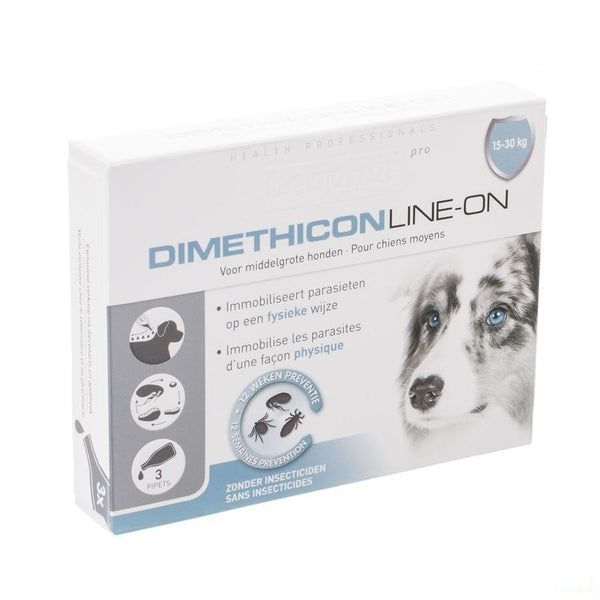 Beaphar Pro Dimethicon Line-on Middelg. Hond 3x3ml - Beaphar - InstaCosmetic