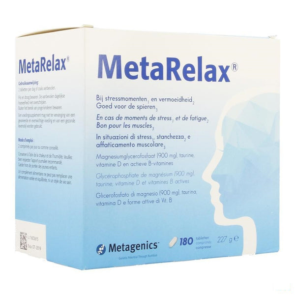 MetaRelax® 180 Tabletten - Metagenics - InstaCosmetic