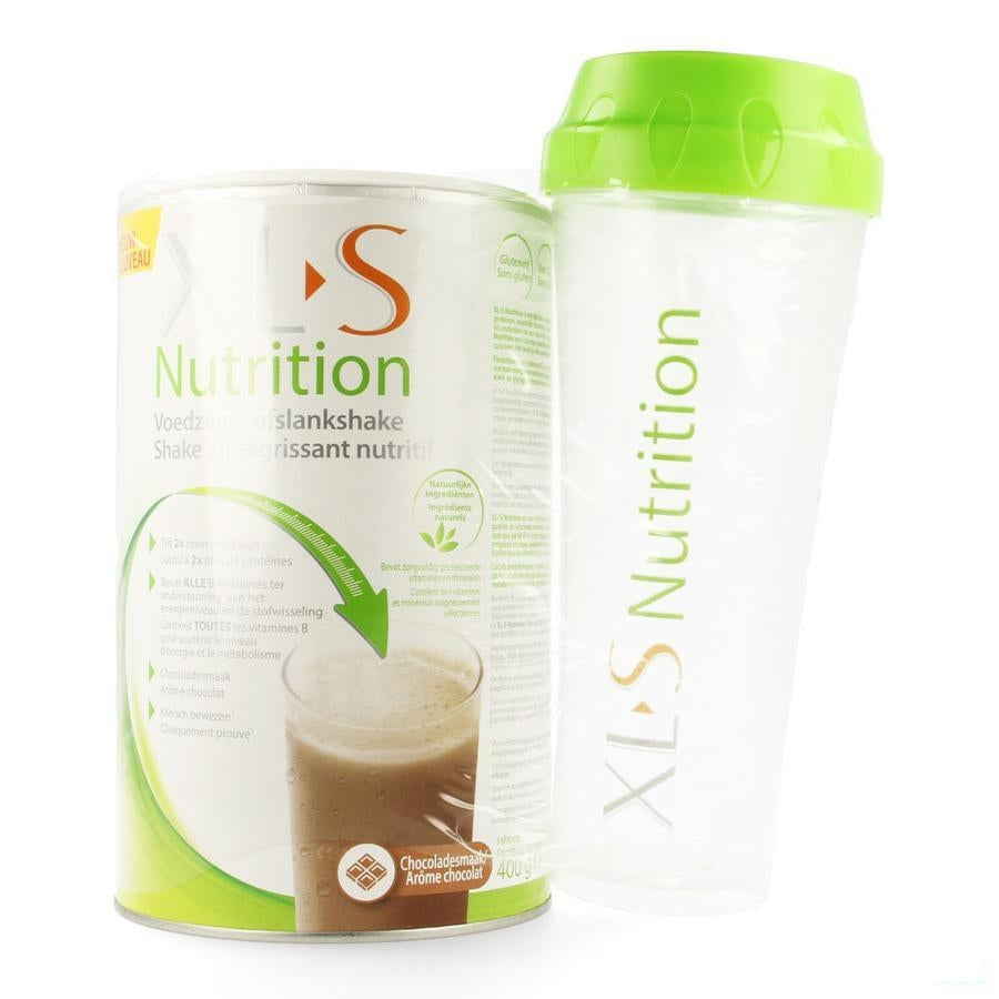 Xls Nutrition Chocolade 400g + Shaker
