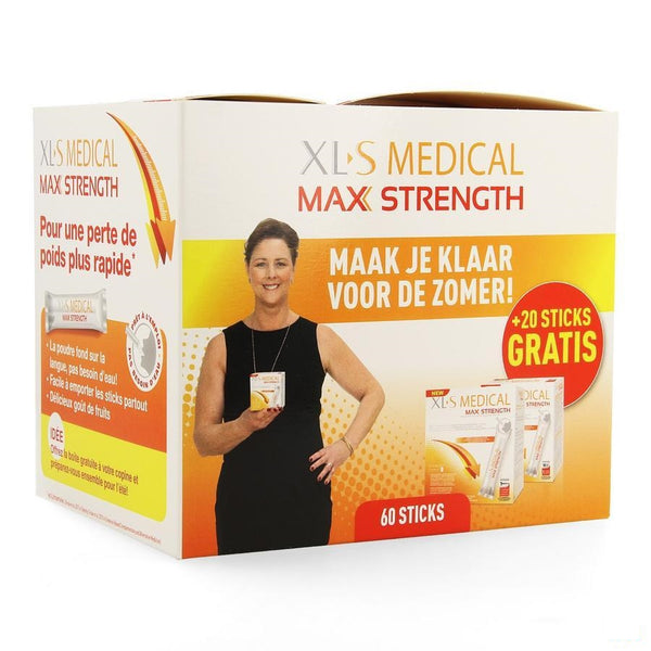 Xls Med. Maximum Strength Sticks 60 + Sticks 20 - Omega Pharma - InstaCosmetic