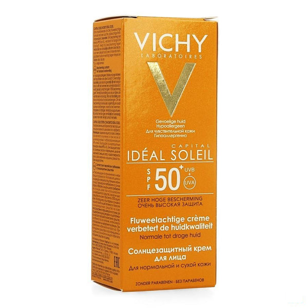 Vichy Ideal Soleil Gezicht SPF 50+ 50ml - Vichy - InstaCosmetic