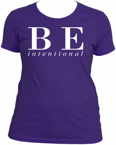 Be Intentional Boyfriend Tee | Be YOUniquely You Inspirational Apparel