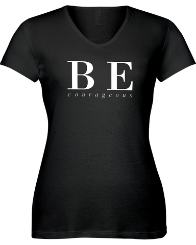 Be Courageous | Sporty V-Neck