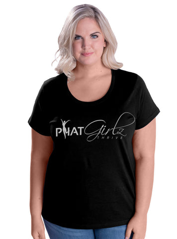 P.H.A.T Girlz Thrive Women's Curvy Girl Tee