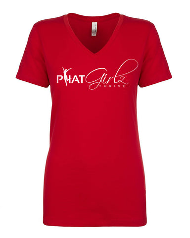 P.H.A.T Girlz Thrive Women's Sporty V-Neck