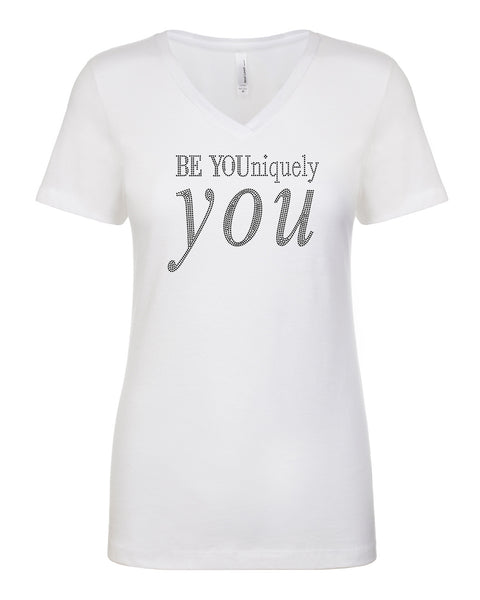Be YOUniquely You Rhinestone Tee | V-Neck