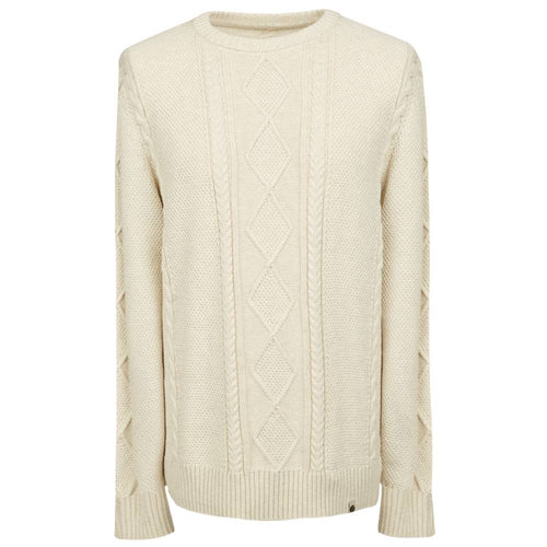 Pretty Green Cable Knit Jumper Stone