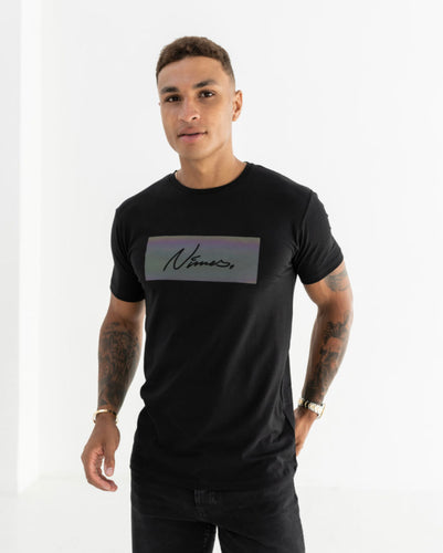 Nimes Iridescent Box Logo T-Shirt Black