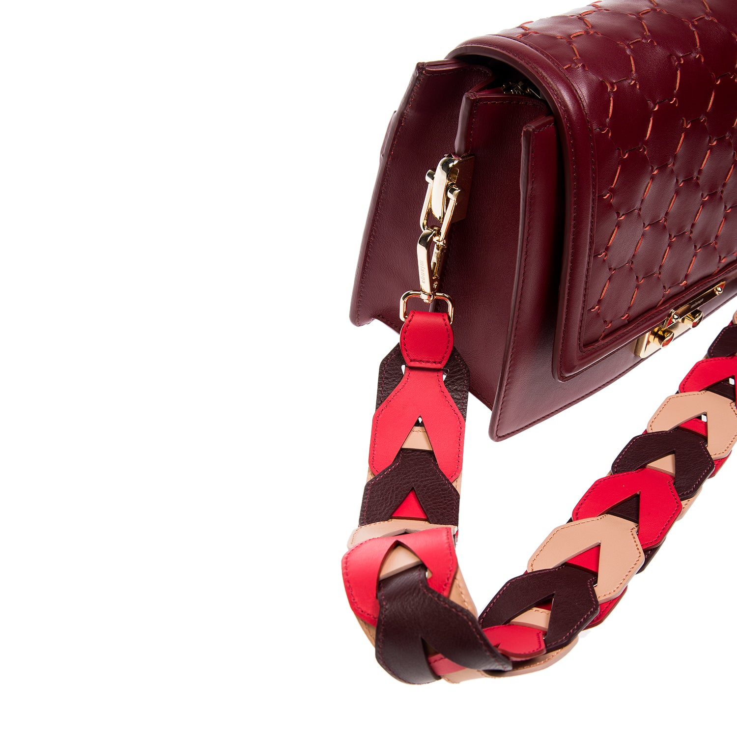 Woven Leather Shoulder Strap