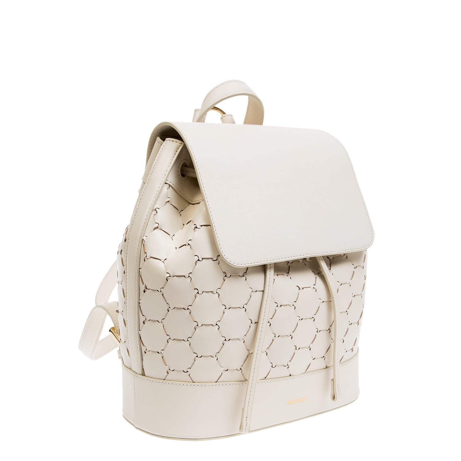 Leather Backpack | White