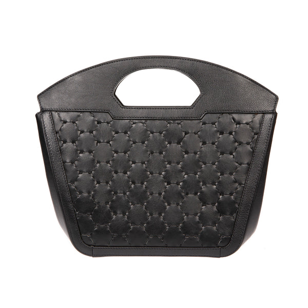 NEW A F I F E | Leather Tote Bag Black
