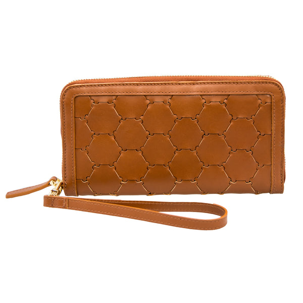 Woven Leather Wallet | Brown