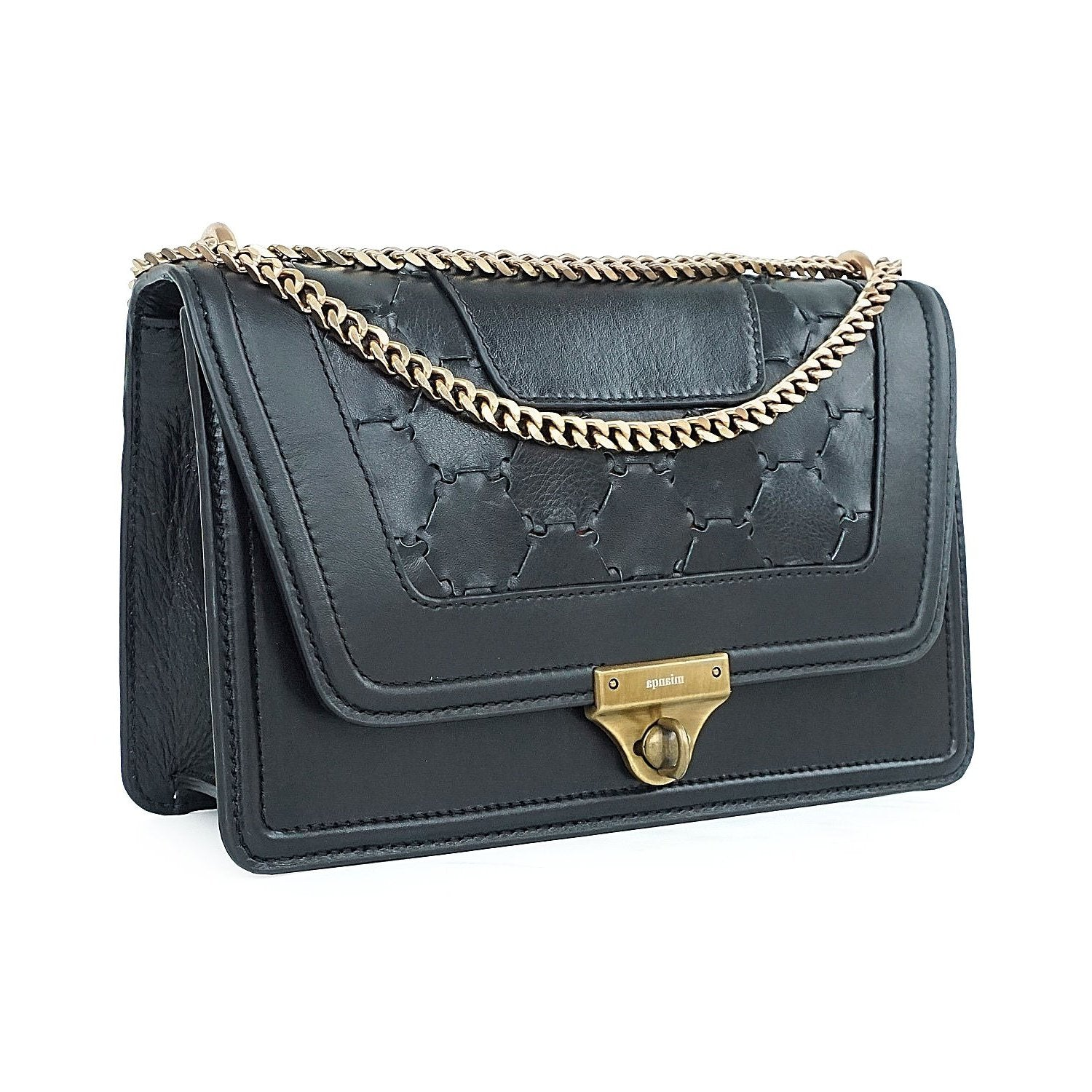 M U A L L A | Leather Shoulder Bag Black