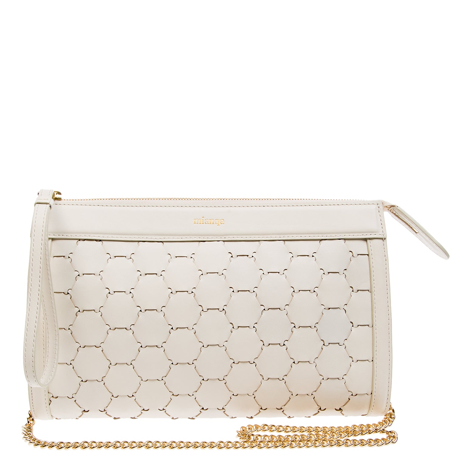 Leather Clutch | White