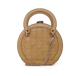 H A L I D E | Leather Circle Crossbody Bag Tan