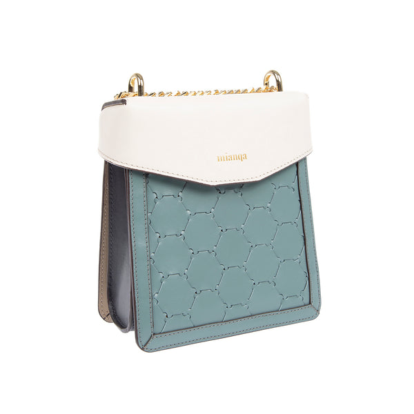 F U R E Y A | Leather Crossbody Bag Blue