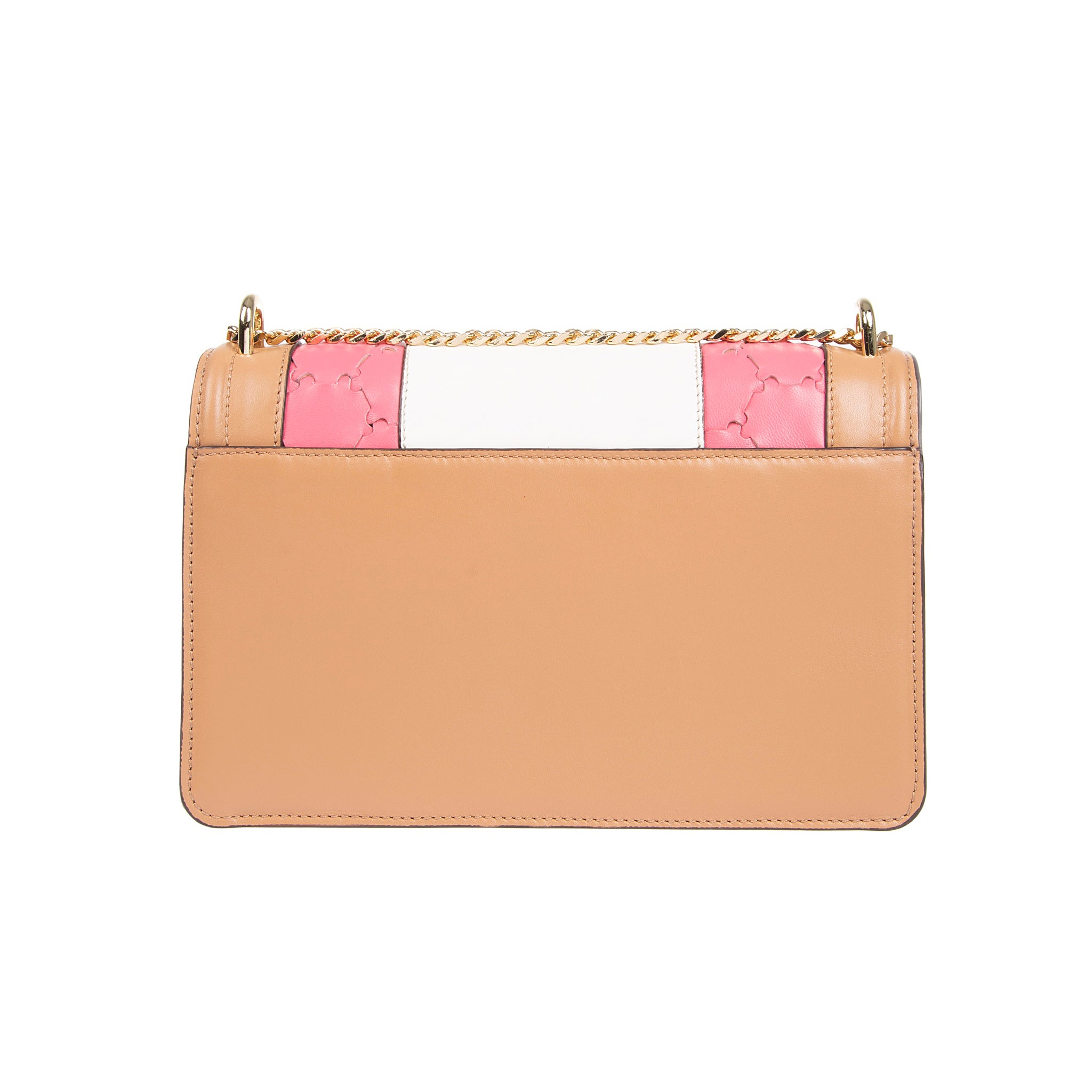 M U A L L A | Leather Shoulder Bag Camel/Pink/White