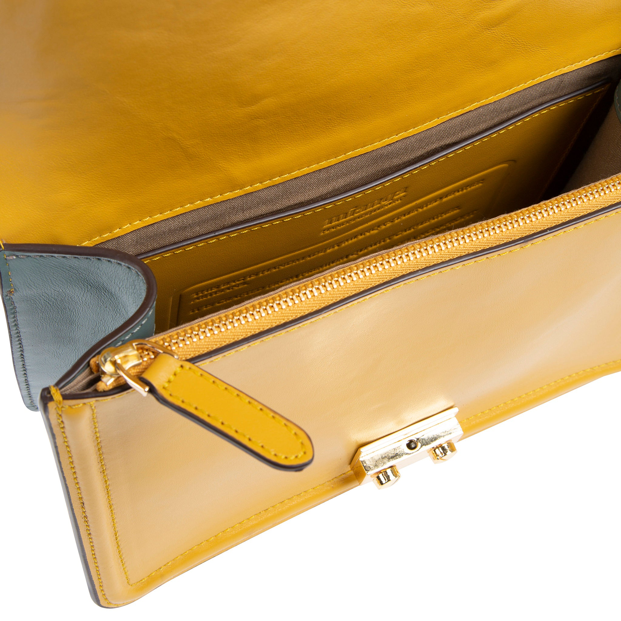 M U A L L A | Leather Shoulder Bag Yellow