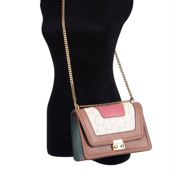M U A L L A | Leather Shoulder Bag Pink
