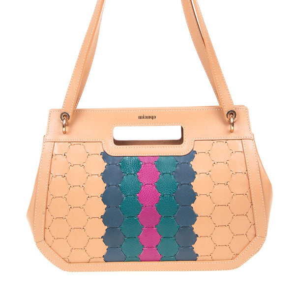 A F I F E | Leather Tote Bag Multi-Color Camel