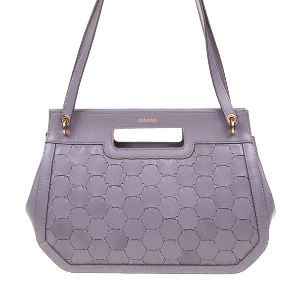 A F I F E | Leather Tote Bag Violet Grey