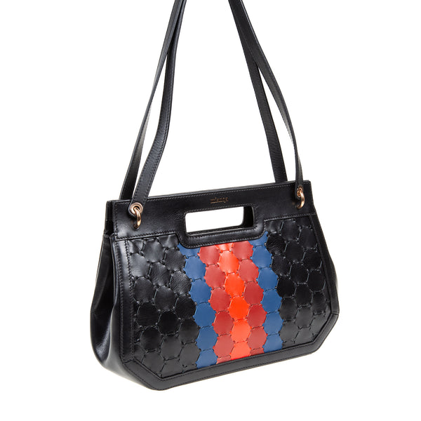 A F I F E | Leather Tote Bag Multi-Color Black