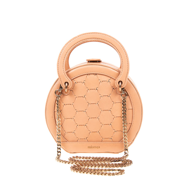 H A L I D E | Leather Circle Crossbody Bag Blush