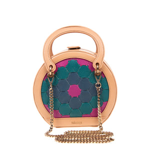 H A L I D E | Leather Circle Crossbody Bag Multi-Color Camel