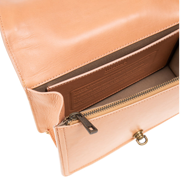 M U A L L A | Leather Shoulder Bag Blush