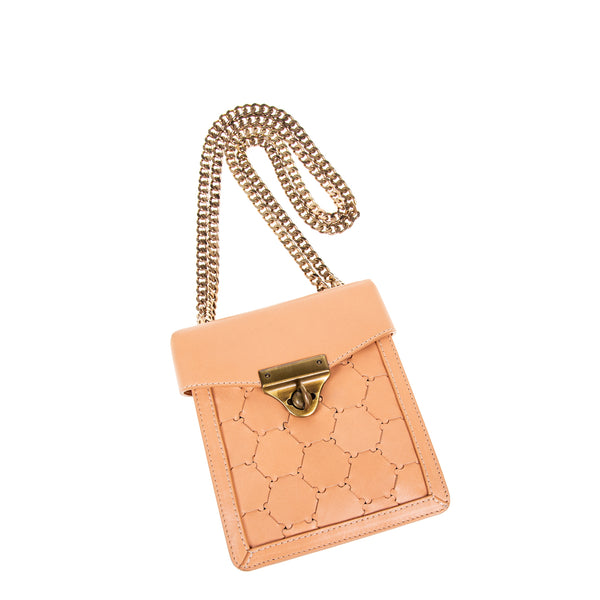 F U R E Y A | Mini Leather Crossbody Bag Blush