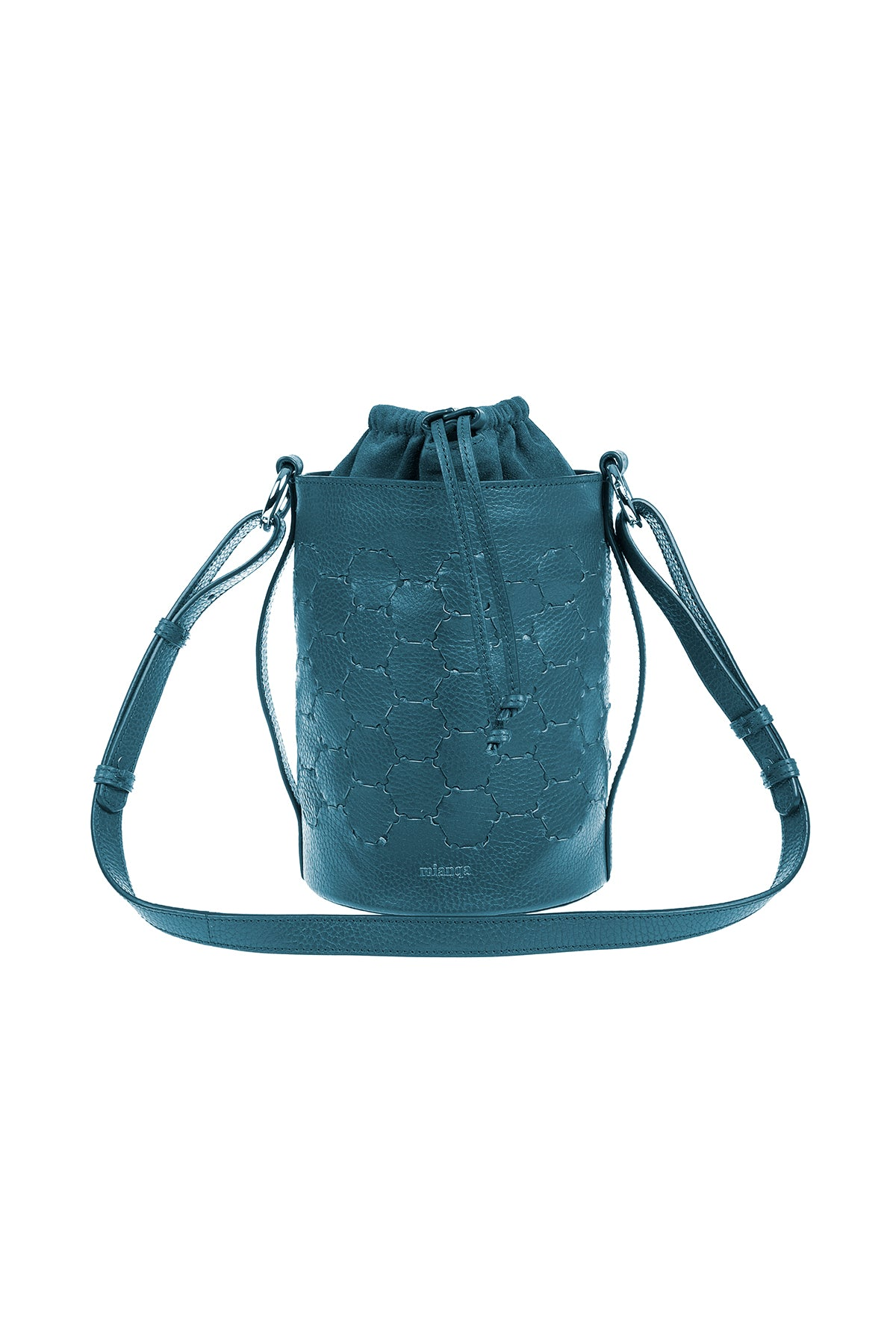 F E R I D E | Leather Cylinder Bag Blue
