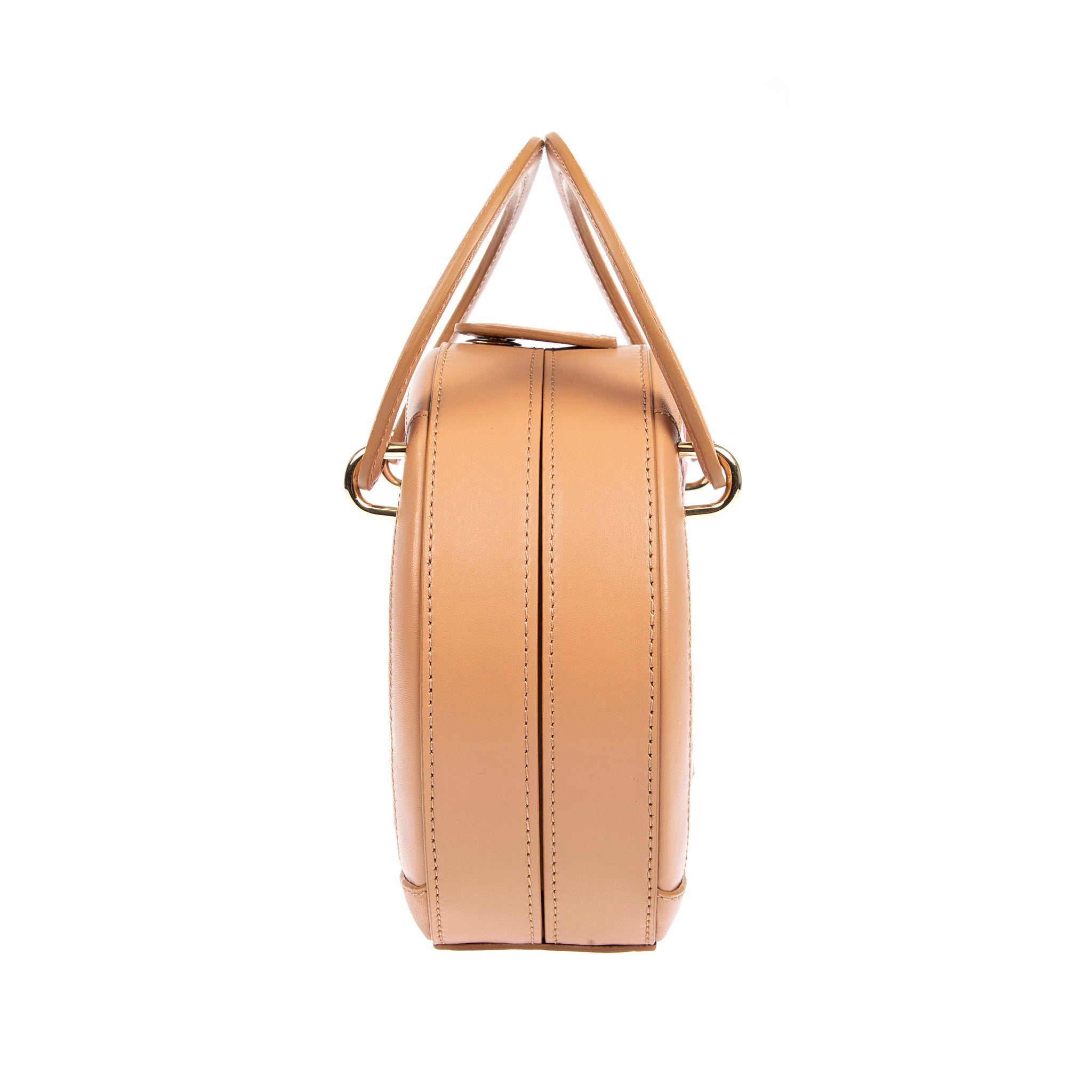 H A L I D E | Leather Circle Crossbody Bag Camel