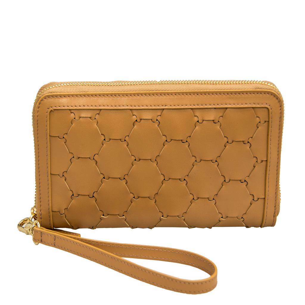 Woven Leather Wallet | Tan