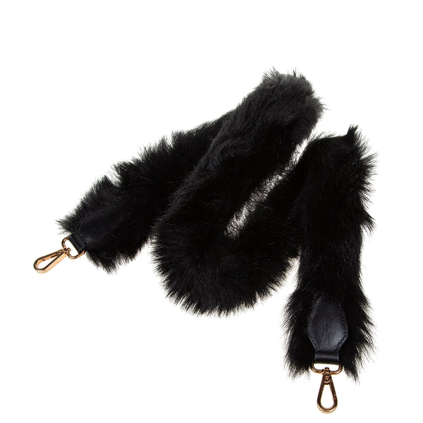 Shearling Shoulder Strap Black
