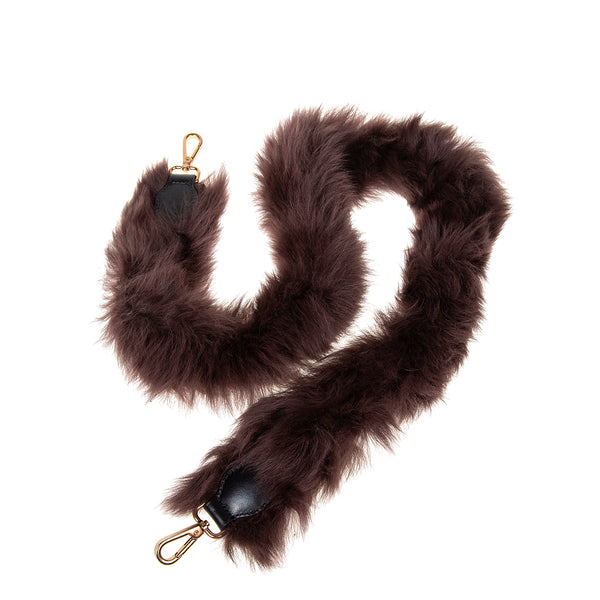 Shearling Shoulder Strap Brown