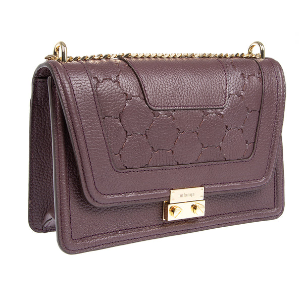 M U A L L A | Leather Shoulder Bag Bordeaux