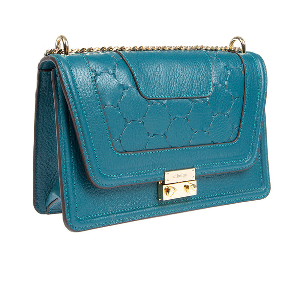 M U A L L A | Leather Shoulder Bag Blue