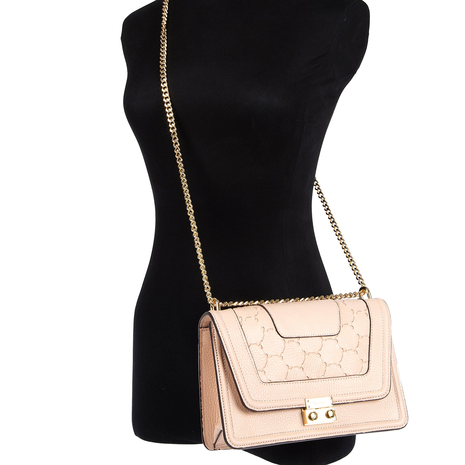 M U A L L A | Leather Shoulder Bag Dust Pink
