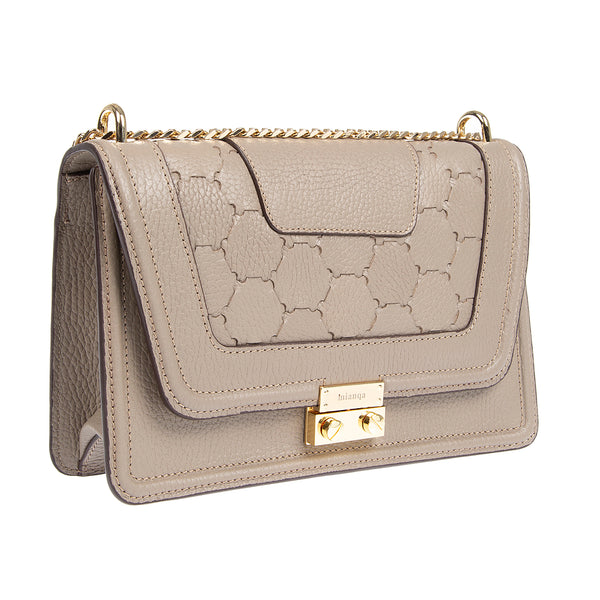 M U A L L A | Leather Shoulder Bag Taupe
