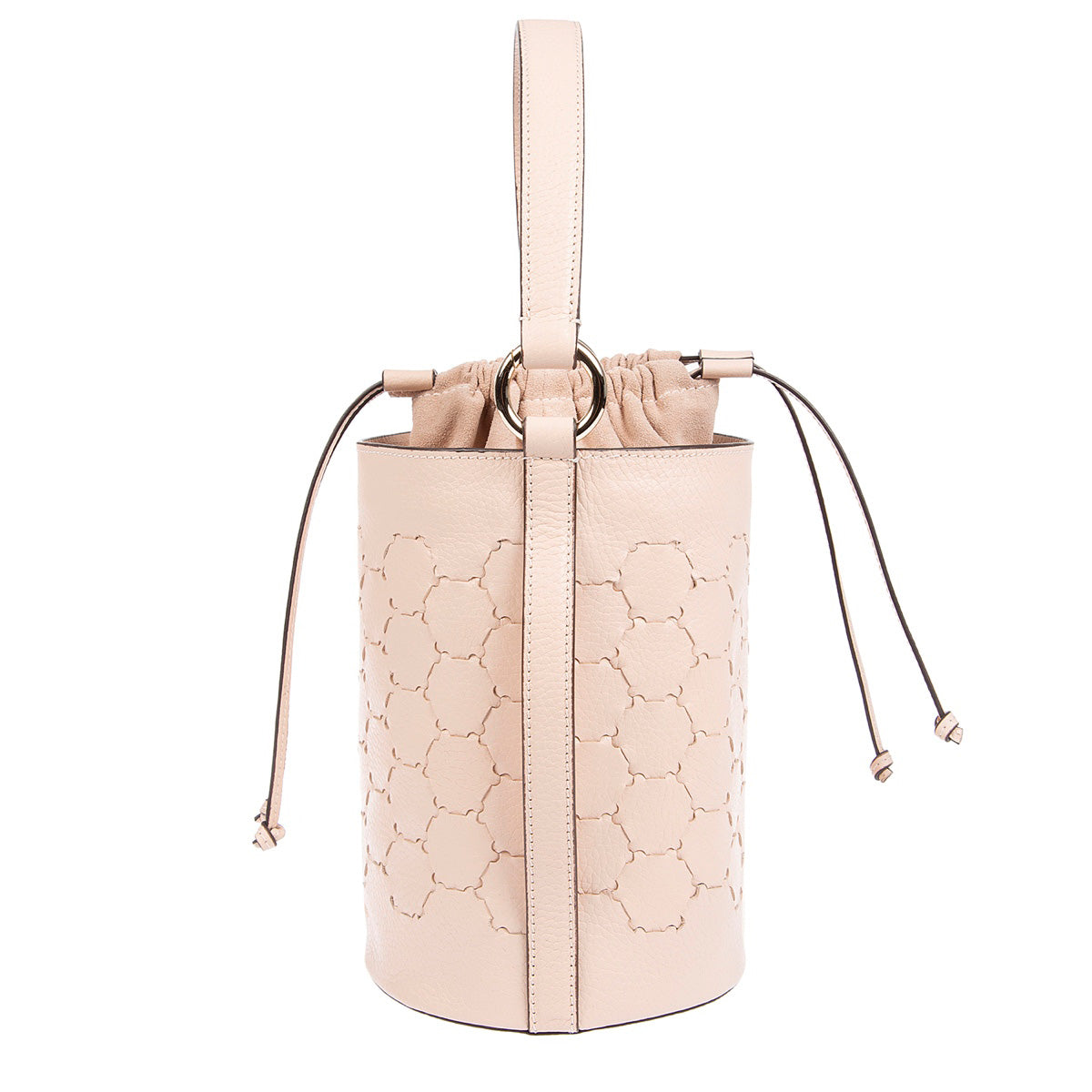 F E R I D E | Leather Cylinder Bag Dust Pink