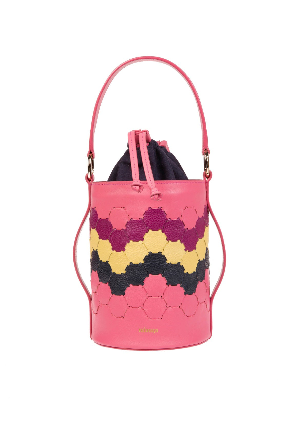F E R I D E | Leather Cylinder Bag Pink